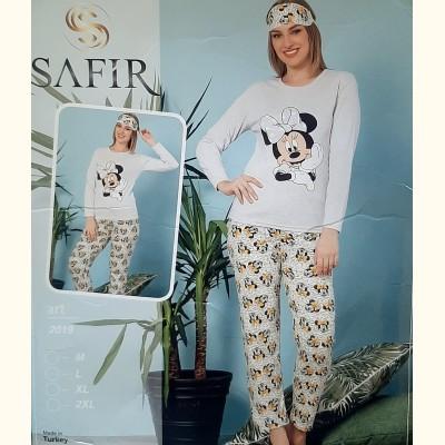 Женская пижама Safir Minnie 2019 Турция 3в1