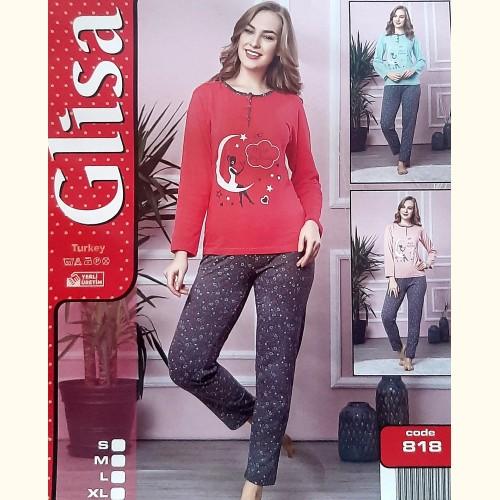 Женская пижама, костюм Glisa Турция (роз.серый) 818