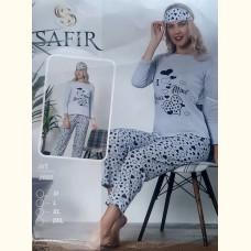Женская пижама Safir 2022 Турция (серая) 3в1