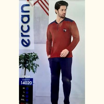 Мужская пижама, трикотажный костюм Ercan Interlok (14020)