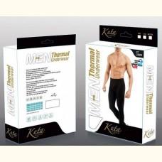 Мужское термобелье, мужские термо лосины (рейтузы)  Kota Thermal (черные) 2000